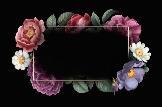 Floral ingelijste kaart