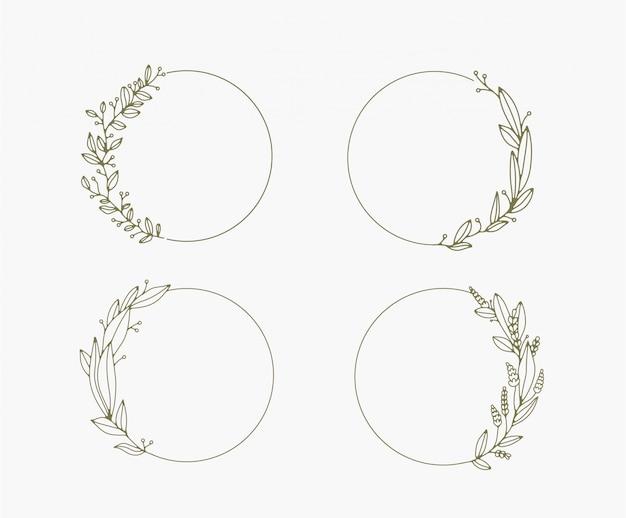 Floral kaders en randen vector collectie.