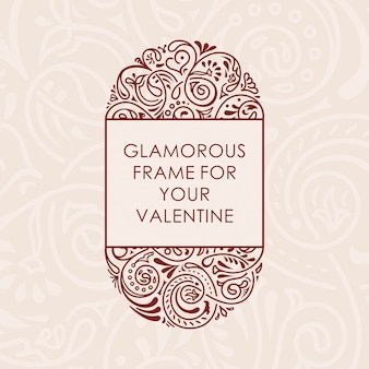 Floral kalligrafische frame
