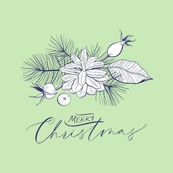 Floral kerst composities