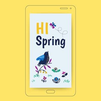 Floral kinderlijk lente instagramverhaal