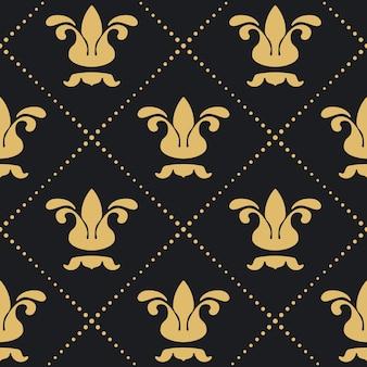 Floral koninklijke achtergrondpatroon. retro victoriaans decoratief behang.