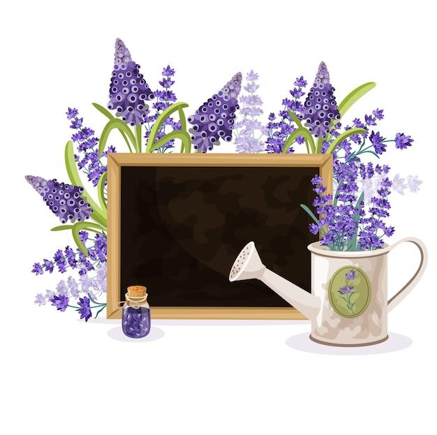 Floral lavendel achtergrond