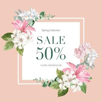 Floral lente frame van de verkoop
