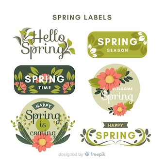 Floral lente label pack