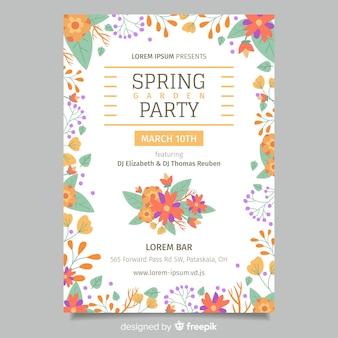 Floral lente partij poster