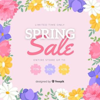 Floral lente verkoop achtergrond