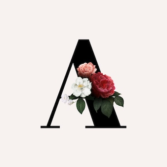 Floral letter a lettertype
