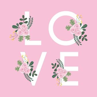 Floral liefde achtergrond