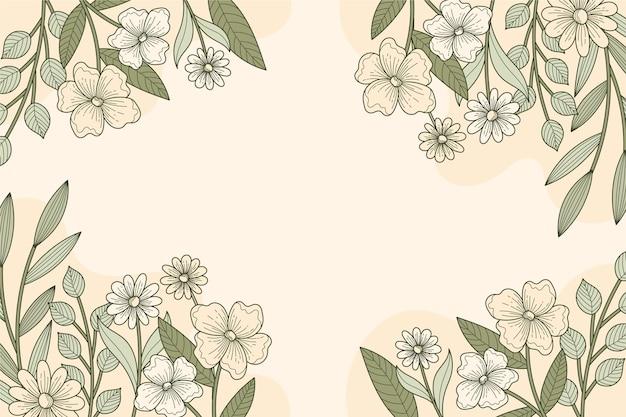 Floral lineair ontwerp achtergrond