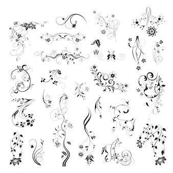 Floral logo ontwerp