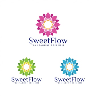 Floral logo sjabloon