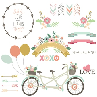 Floral love vintage bicycles collecties