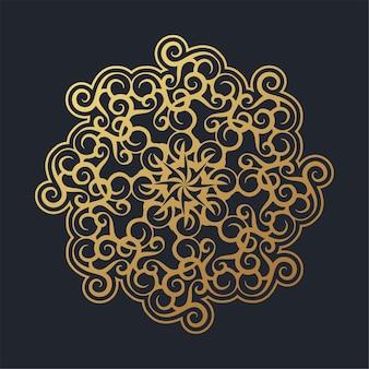 Floral mandala achtergrond ontwerpsjabloon