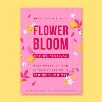 Floral minimalistische lenteposters