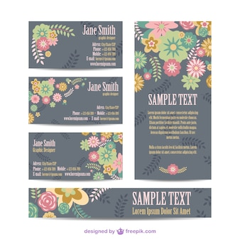 Floral mock-up corporate identity set