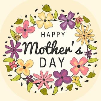 Floral moederdag belettering