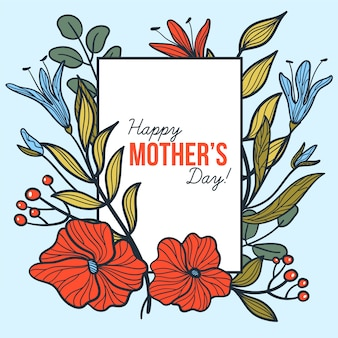 Floral moederdag concept