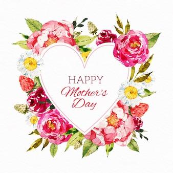 Floral moederdag illustratie