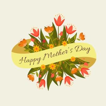 Floral moederdag ontwerp