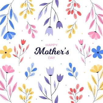 Floral moeders dag concept