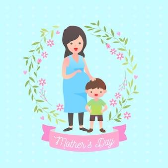 Floral moeders dag illustratie concept