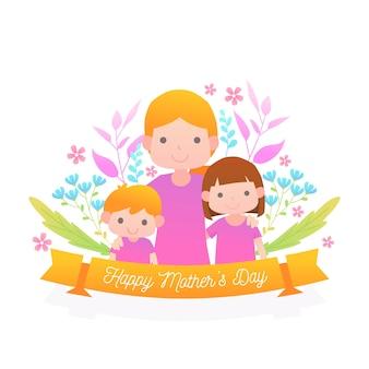 Floral moeders dag illustratie