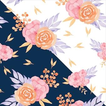 Floral naadloze patroon met herfst bloemen