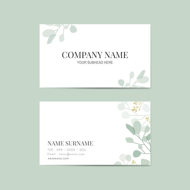 Floral naamkaart