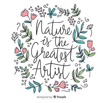 Floral natuur achtergrond met citaat