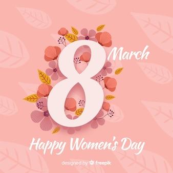 Floral nummer vrouwen dag achtergrond
