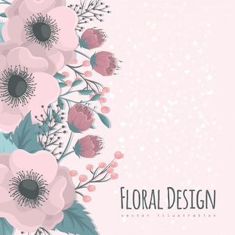 Floral ontwerp achtergrond