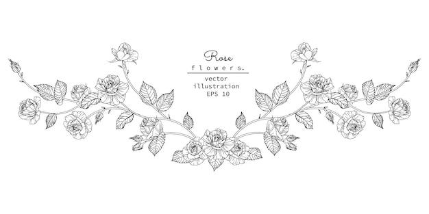 Floral ontwerpelement voor koptekst