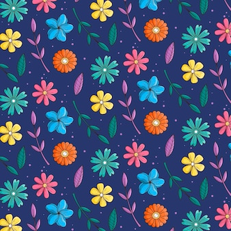 Floral patroon collectie concept