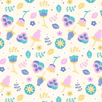 Floral patroon collectie concept