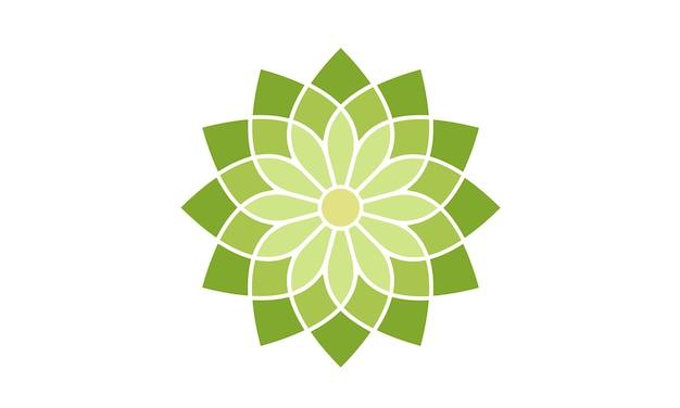 Floral patroon logo ontwerp