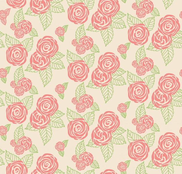 Floral print textuur