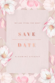 Floral save the date kaart