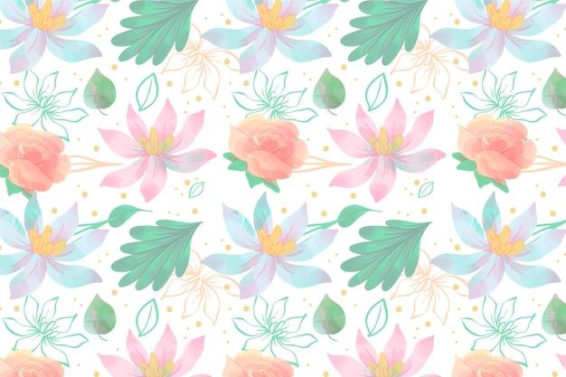 Floral screensaver in aquarel stijl
