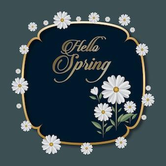 Floral seizoenen groeten kaart