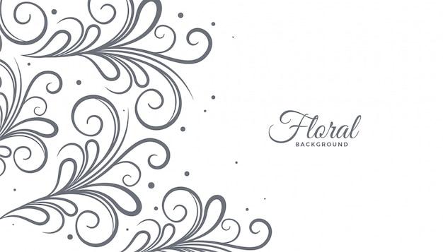 Floral stijl achtergrond met copyspace