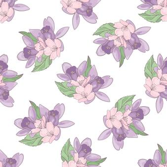 Floral textile print naadloze patroon