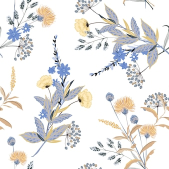 Floral thema naadloze patroon