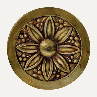 Floral tie back illustratie vector, geremixt van het artwork door chris makrenos