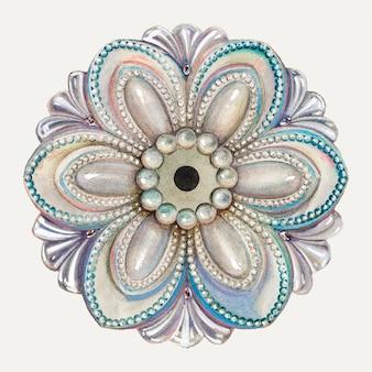 Floral tie back illustratie vector, geremixt van het kunstwerk door henry moran