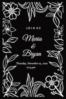 Floral uitnodiging