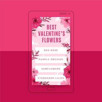 Floral valentijnsdag instagram verhaalsjabloon