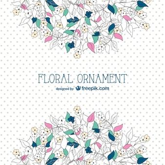 Floral vector achtergrond sjabloon