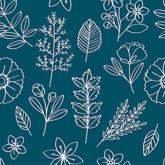 Floral vector patroon ontwerp illustratie