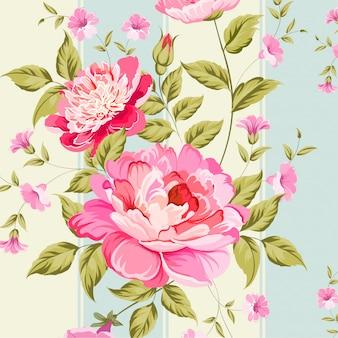Floral verlaat naadloze patroon achtergrond
